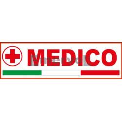 Etichetta ricamata CRI base velcro cm 3x10 Medico