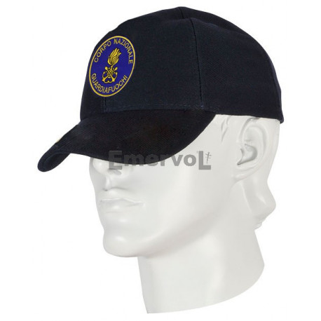 Cappellino Guardiafuochi tipo baseball in cotone con logo ricamato applicato