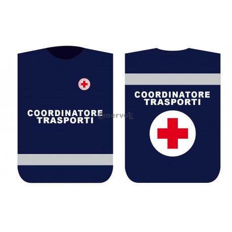 Pettorina Croce Rossa Italiana COORDINATORE TRASPORTI
