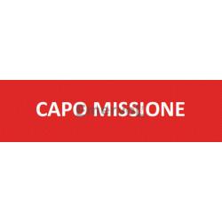Scritta Identificativa CAPO MISSIONE base velcro cm 3x10