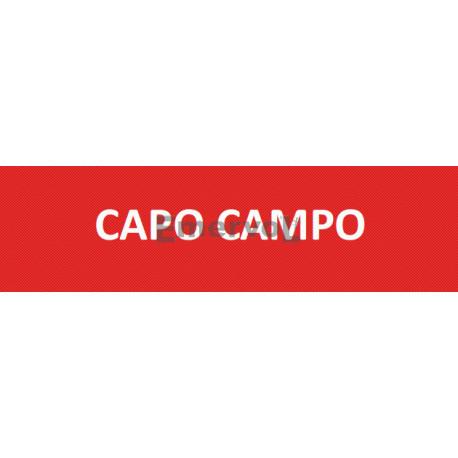 Scritta Identificativa CAPO CAMPO base velcro cm 3x10