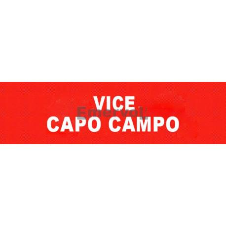 Scritta Identificativa VICE CAPO CAMPO base velcro cm 3x10