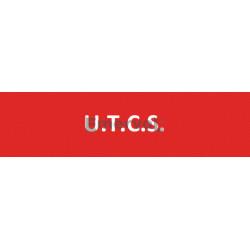 Scritta Identificativa U.T.C.S. base velcro cm 3x10