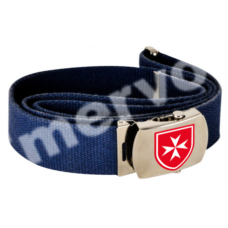 Cintura blu Cisom fregio adesivo resinato