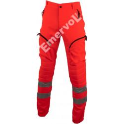 Pantalone Rosso Alta Visibilità elasticizzato antistatico II Categoria UNI EN ISO 20471 Classe 3
