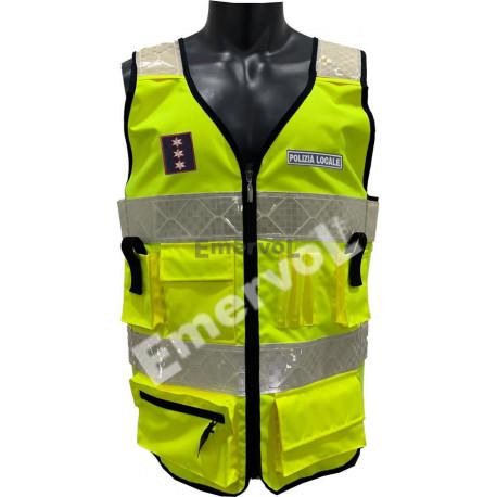 Corpetto Certificato Polizia Locale autoregolabile UNIEN20471