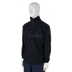Maglione in pile collo zip