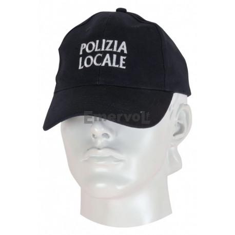 Cappellino cotone Polizia Locale