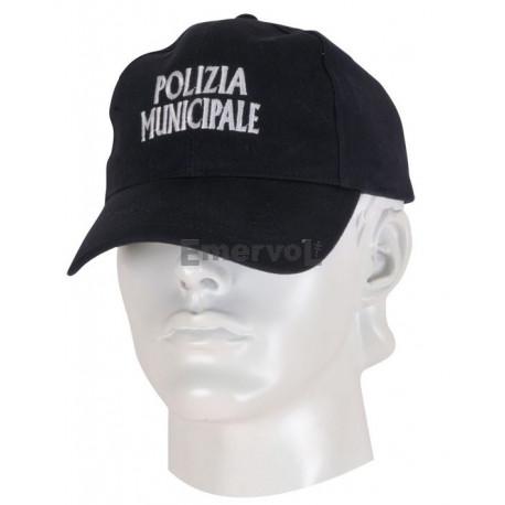Cappellino cotone Polizia Municipale