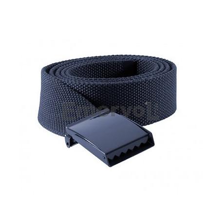 Cintura in canapa blu fibbia a piastra neutra
