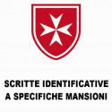 SCRITTE IDENTIFICATIVE A SPECIFICHE MANSIONI